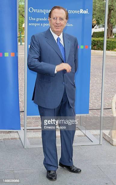Michele Mirabella attends the Palinsesti Rai photocall at Cavalieri Hilton Hotel on June 20 2012 in Rome Italy