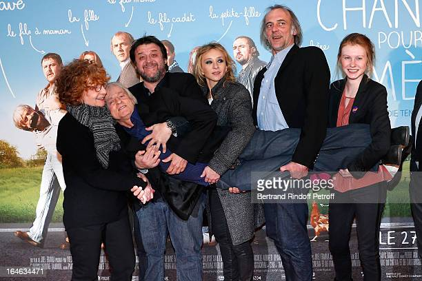 Michele Moretti Dave Guy Lecluyse Sylvie Testud Sam Louwyck and Mathilde Goffart attend 'Une Chanson Pour Ma Mere' movie premiere held at UGC Cine...