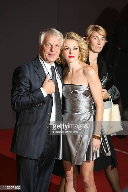 Michele Placido Claudia Gerini during 1st Annual Rome Film Festival 'La Sconosciuta' Premiere in Rome Italy