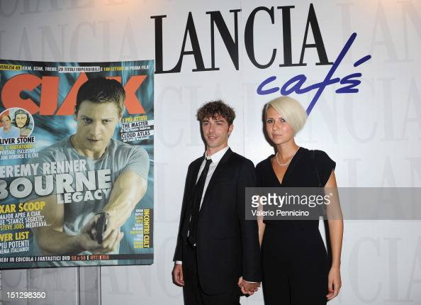 Michele Riondino and guest attend the 'Ciak'magazine party at Lancia Cafe during the 69th Venice Film Festival on September 5 2012 in Venice Italy