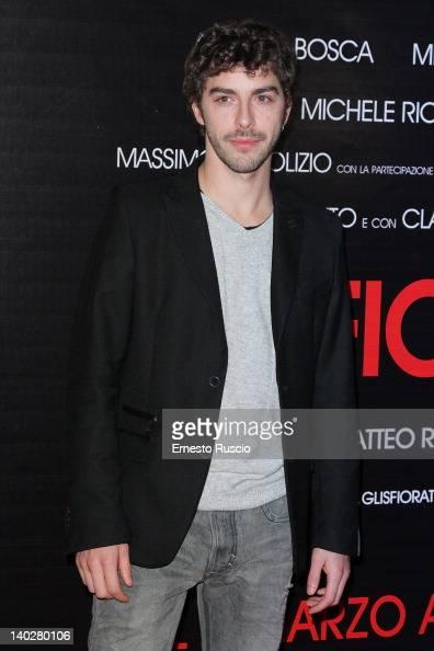 Michele Riondino attends the 'Gli Sfiorati' premiere at Cinema Barberini on March 1 2012 in Rome Italy
