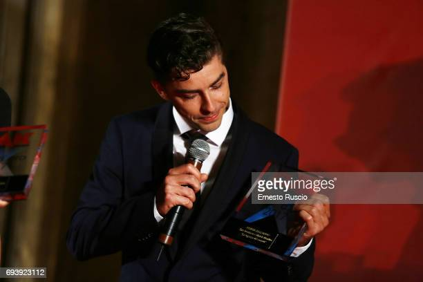 Michele Riondino receives the Ciak D'Oro 2017 award at Link Campus University on June 8 2017 in Rome Italy