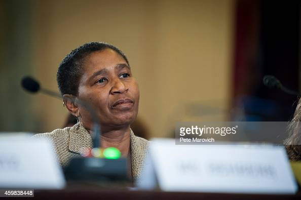 Michele Roberts executive director of the National Basketball Players Association testifies before the Senate Commerce Science and Transportation...