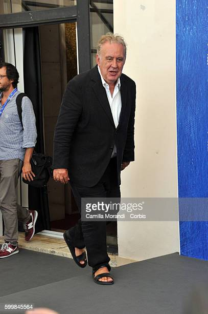 Michele Santoro attends a photocall for 'Robinu' during the 73rd Venice Film Festival at Palazzo del Casino on September 7 2016 in Venice Italy