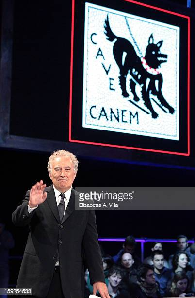 Michele Santoro attends 'Servizio Pubblico' Italian TV Show at Cinecitta on January 10 2013 in Rome Italy