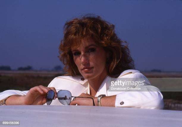 Michele Scarabelli from the cast of the tv show 'Airwolf' poses for a portrait in September 1986 in Los Angeles California
