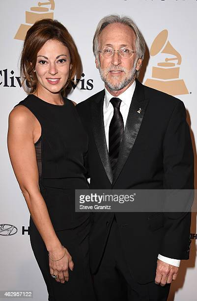 Michele Tebbe and President of the National Academy of Recording Arts and Sciences Neil Portnow attends the PreGRAMMY Gala and Salute To Industry...