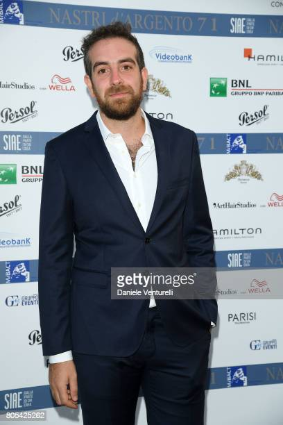 Michele Vannucci attends Nastri D'Argento 2017 Awards Ceremony on July 1 2017 in Taormina Italy