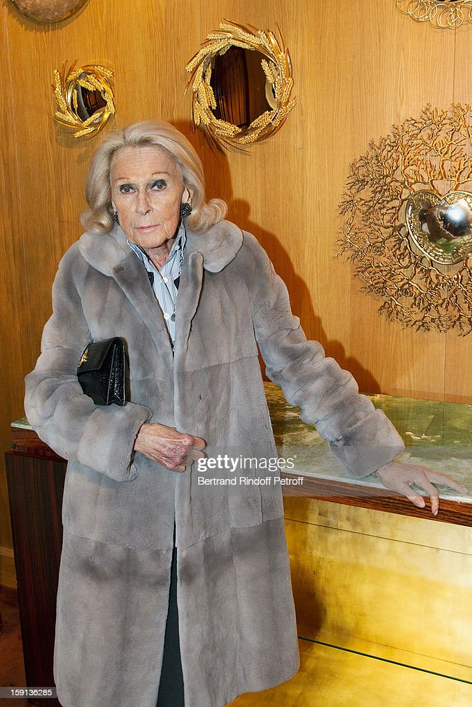 Micheline Mauss attends the 'Sorcieres' (Witches) exhibition preview at Galerie Pierre Passebon on January 8, 2013 in Paris, France.