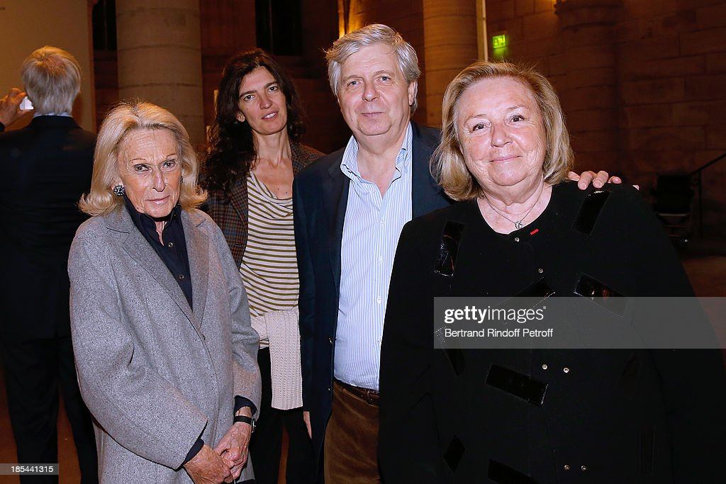 Micheline Mauss, Director of the National Opera Stephane Lissner with his wife and Miss Francois Pinault attend 'A Triple Tour' : Francois Pinault Collection Exhibition opening at the Conciergerie on October 20, 2013 in Paris, France.