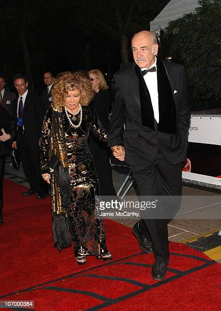 Micheline Roquebrune and Sean Connery during 'Madama Butterfly' Opening Night Starting the Lincoln Center Metropolitan Opera 20062007 Season at...