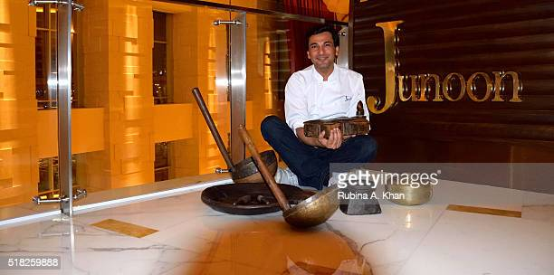 Michelinstarred Indian chef Vikas Khanna with his favourite Butterfly Spice Box and uniquely Indian kitchen tools that he is giving away to the first...