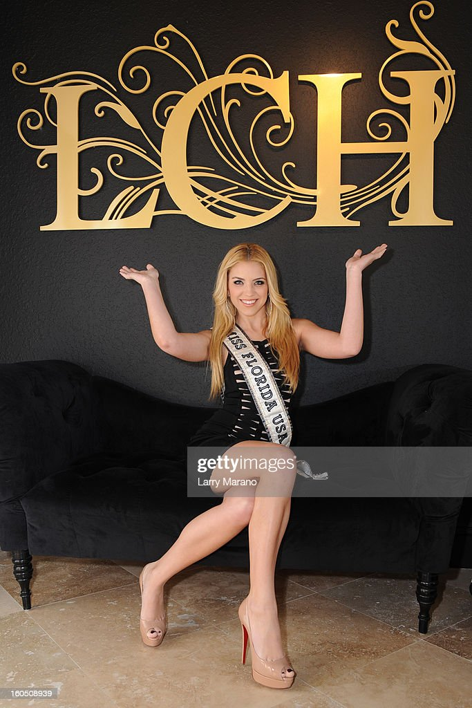 Michelle Aguirre Miss Florida USA attends Prom's Night Out At La Casa Hermosa on February 1, 2013 in Wellington, Florida.