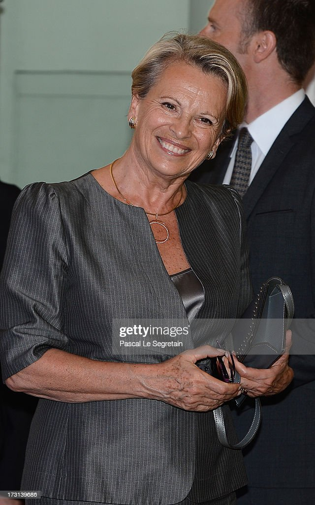 Michelle Alliot-Marie arrives at the UMP headquarters to attend an extraordinary meeting of UMP right-wing opposition party July 8, 2013 in Paris, France.