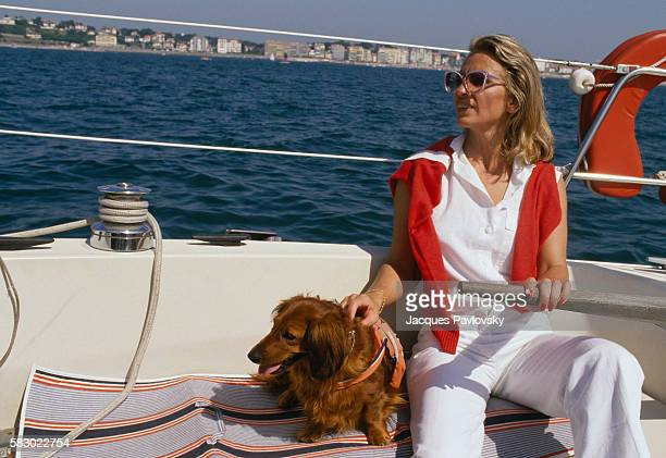 Michelle AlliotMarie Secretary of state for education in Jacques Chirac's government is on vacation in Saint Jean de Luz southern France   Location...