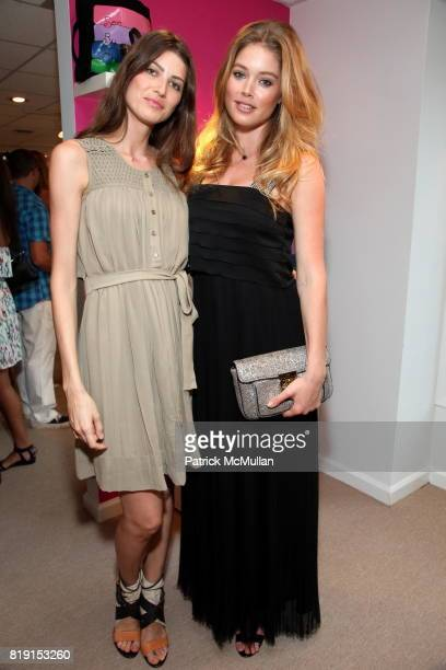 Michelle Alves and Doutzen Kroes attend CHLOE Summer Party in East Hampton at Chloe Hamptons on July 17 2010 in East Hampton NY