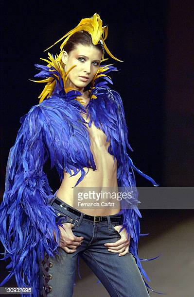 Michelle Alves during Sao Paulo Fashion Week Fall 2003 Forum by Tufic Duek at Bienal Parque do Ibirapuera in Sao Paulo SP Brazil