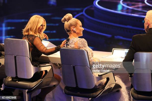 Michelle and Shirin David during the fourth event show and semi finals of the tv competition 'Deutschland sucht den Superstar' at Coloneum on April...