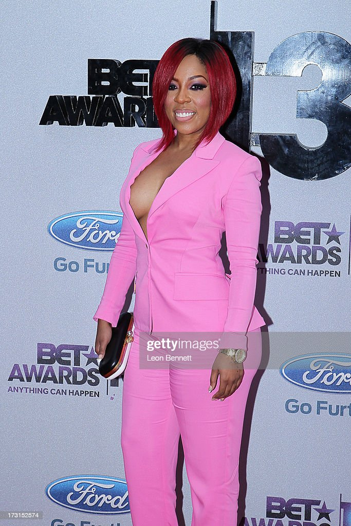 K. Michelle arrives at the 2013 BET Awards Make A Wish Arrivals at Nokia Plaza L.A. LIVE on June 30, 2013 in Los Angeles, California.