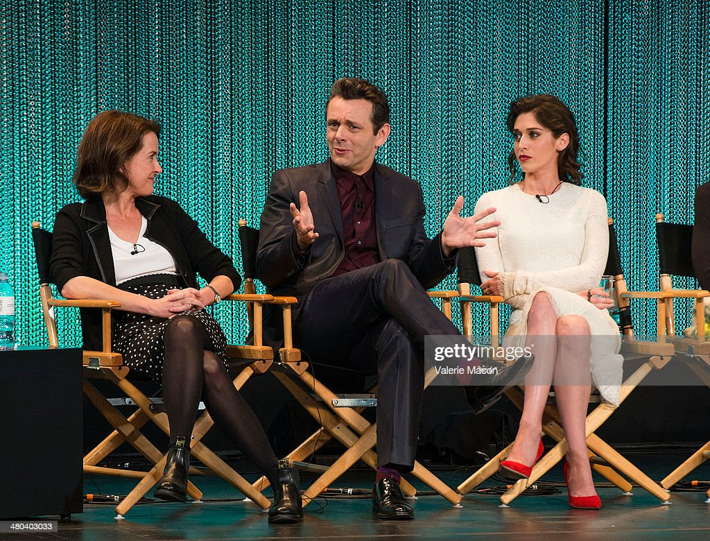 Michelle Ashford, <a gi-track='captionPersonalityLinkClicked' href=/galleries/search?phrase=Michael+Sheen&family=editorial&specificpeople=213120 ng-click='$event.stopPropagation()'>Michael Sheen</a> and <a gi-track='captionPersonalityLinkClicked' href=/galleries/search?phrase=Lizzy+Caplan&family=editorial&specificpeople=599560 ng-click='$event.stopPropagation()'>Lizzy Caplan</a> attend The Paley Center For Media's PaleyFest 2014 Honoring 'Masters Of Sex' at Dolby Theatre on March 24, 2014 in Hollywood, California.