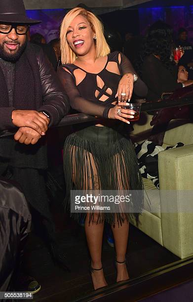 K Michelle attends Prive on January 16 2016 in Atlanta Georgia