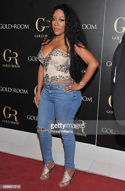 K Michelle attends the K Michelle and Monica concert Afterparty at Gold Room on March 12 2015 in Atlanta Georgia