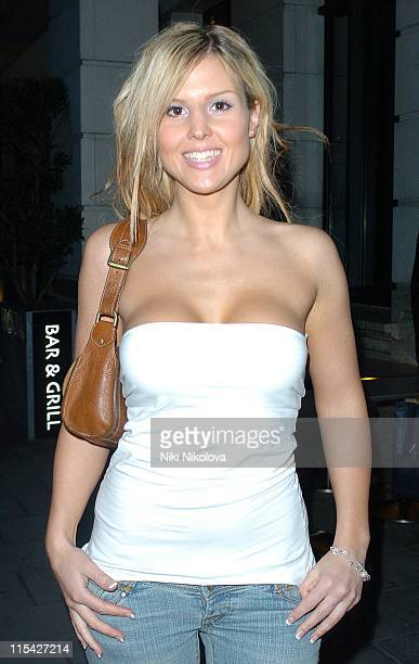 Michelle Bass during Rebecca Loos Hosts 2006 PreMarathon Fundraising Party at Volt Lounge in London Great Britain