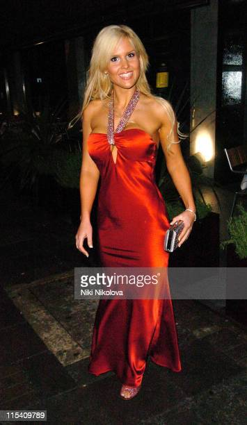 Michelle Bass during Television X Launch Party at Embassy Club in London Great Britain