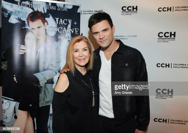 Michelle Beaulieu and Kash Hovey attend the 'Jack And Cocaine' Screening At The Valley Film Festival at Columbia College Hollywood on October 7 2017...
