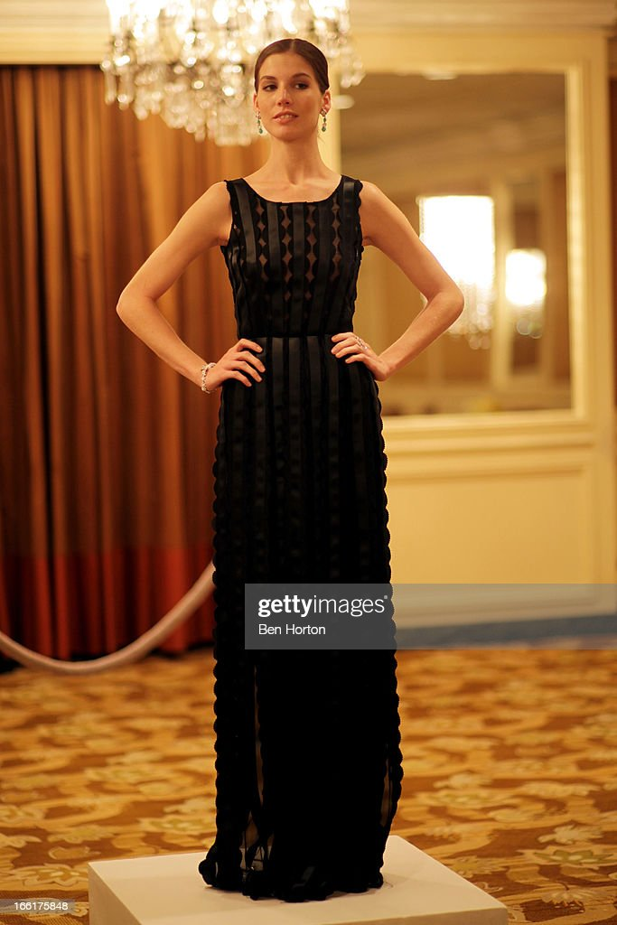 Michelle Box models at The Colleagues' 25th annual spring luncheon honoring Wallis Annenberg at the Beverly Wilshire Four Seasons Hotel on April 9, 2013 in Beverly Hills, California.