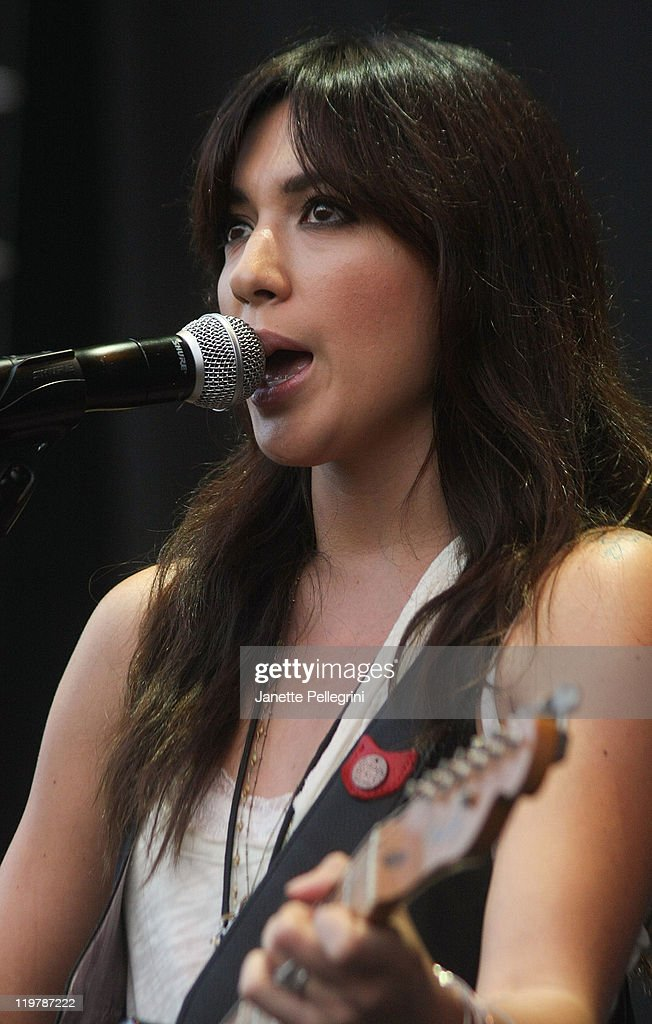 Michelle Branch performs at the Nikon at Jones Beach Theater on July 24, 2011 in Wantagh, New York.