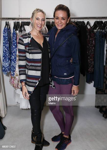 Michelle Bridges and guest pictured at Happy Whole book launch and signing on May 9 2017 in Sydney Australia