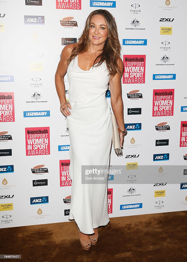 <a gi-track='captionPersonalityLinkClicked' href=/galleries/search?phrase=Michelle+Bridges&family=editorial&specificpeople=4213216 ng-click='$event.stopPropagation()'>Michelle Bridges</a> arrives at the 'I Support Women In Sport' awards at The Ivy Ballroom on October 15, 2013 in Sydney, Australia.