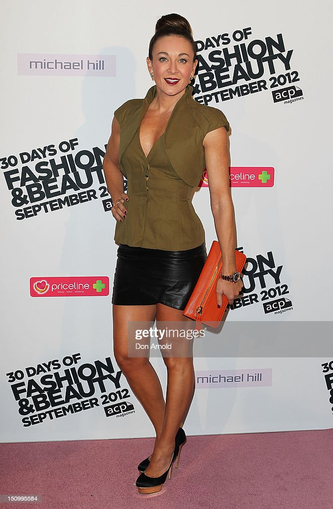 Michelle Bridges poses during the 30 Days of Fashion & Beauty Launch at Sydney Town Hall on August 30, 2012 in Sydney, Australia.