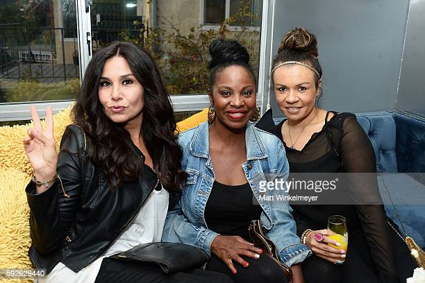 Michelle Brione Ina Romeo and Charlotte Wilson Langley attend ARYA Curcumin Presents The Yellow Social at Private Residence on August 20 2016 in Los...