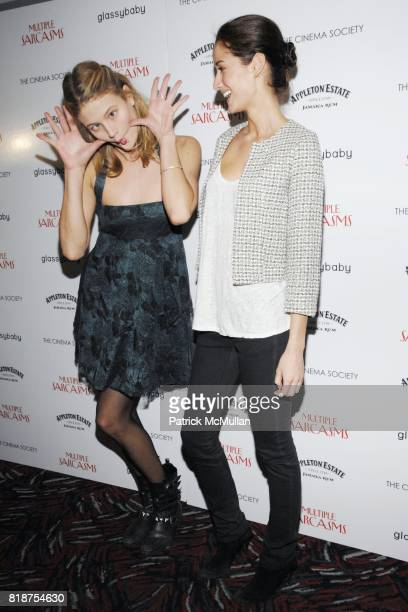 Michelle Buswell and Rekha Luther attend THE CINEMA SOCIETY hosts a screening of 'MULTIPLE SARCASMS' at AMC Loews 19th Street East on April 19 2010...