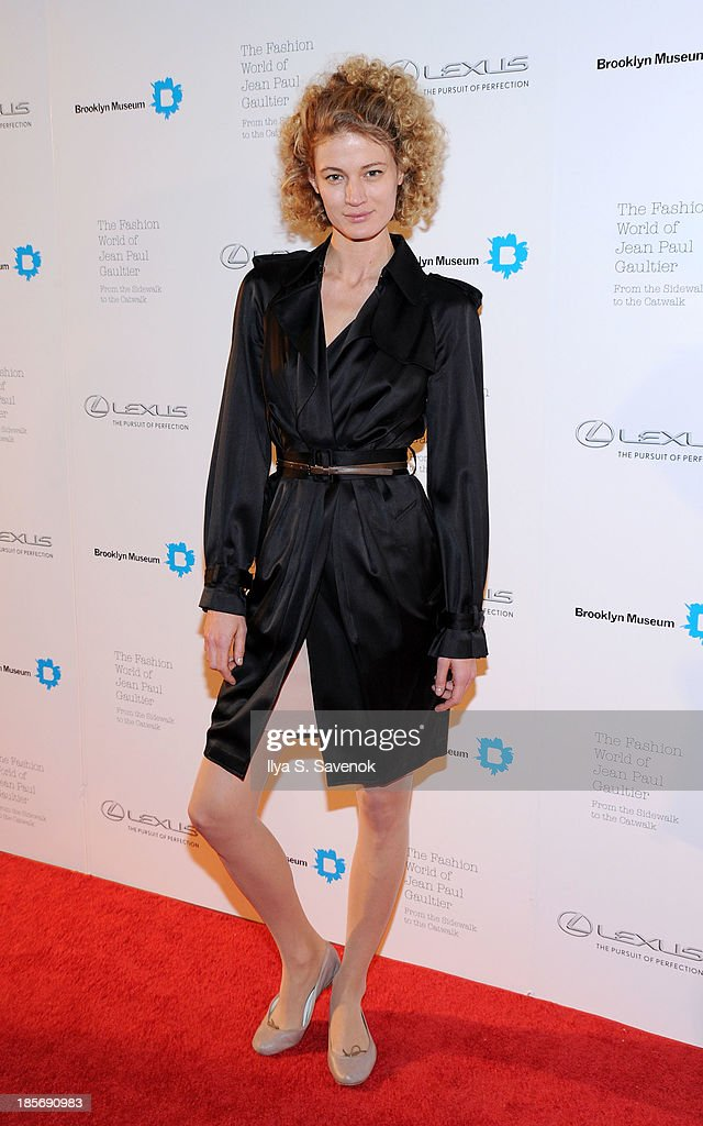 Michelle Buswell attends the VIP reception and viewing for The Fashion World of Jean Paul Gaultier: From the Sidewalk to the Catwalk at the Brooklyn Museum on October 23, 2013 in the Brooklyn borough of New York City.