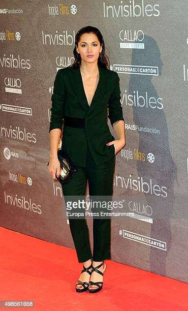 Michelle Calvo attends 'Invisibles ' charity premiere at Callao cinema on November 23 2015 in Madrid Spain