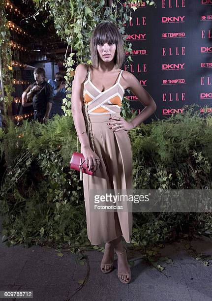 Michelle Calvo attends the ELLE DKNY party at El Amante on September 22 2016 in Madrid Spain