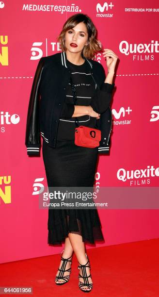 Michelle Calvo attends the 'Es por tu bien' premiere at Capitol cinema on February 22 2017 in Madrid Spain