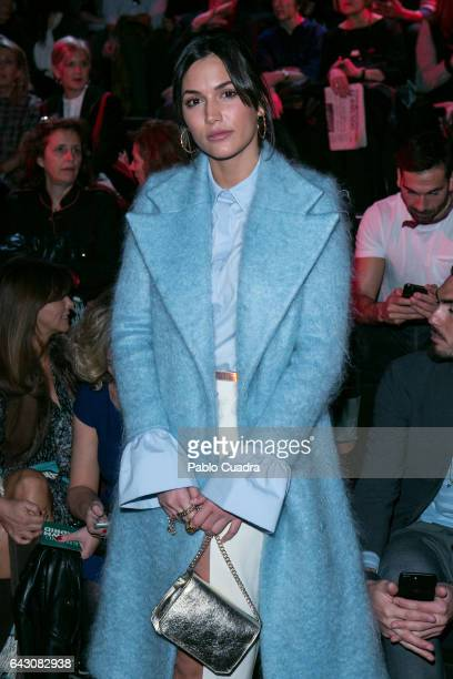 Michelle Calvo attends the front row of The 2nd Skin Co show during Mercedes Benz Fashion Week Madrid Autumn / Winter 2017 at Ifema on February 20...