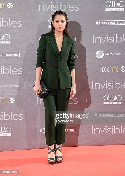 Michelle Calvo attends the 'Invisibles' Premiere at Callao Cinema on November 23 2015 in Madrid Spain