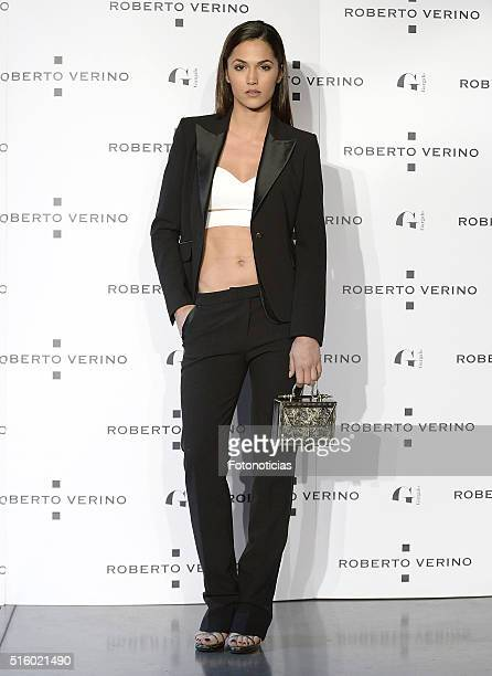 Michelle Calvo attends the Roberto Verino new SpringSummer 2016 'Un Balcon al Mar' collection launch at Platea on March 16 2016 in Madrid Spain