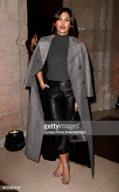 Michelle Calvo attends the Roberto Verino show during the MercedesBenz Madrid Fashion Week Autumn/Winter 2017/2018 at Correos Palace on February 16...