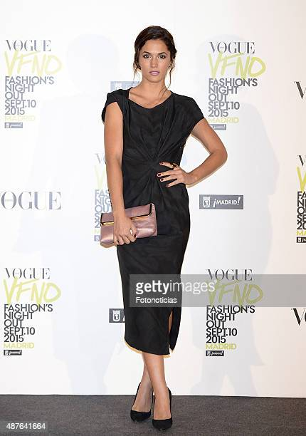 Michelle Calvo attends the Vogue Fashion Night Out Madrid 2015 photocall at the Vogue VIP Tent on September 10 2015 in Madrid Spain