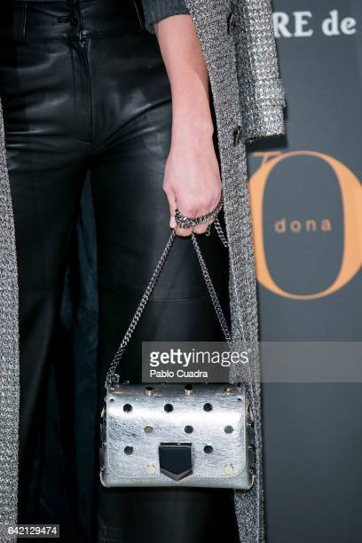 Michelle Calvo handbag detail attends the 'Yo Dona' party that inaugurates MercedesBenz Fashion Week Madrid Autumn/ Winter 2017 at Barcelo Torre de...