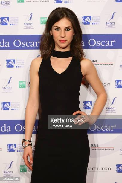 Michelle Carpente attends a photocall for Nastri D'Argento on March 22 2017 in Rome Italy
