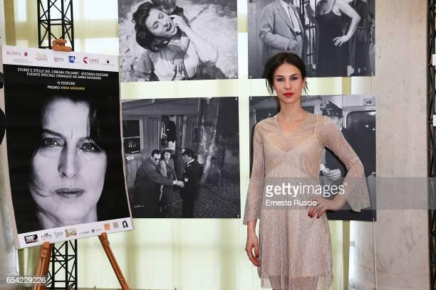 Michelle Carpente attends the 4 Premio Anna Magnani at Teatro Di Villa Torlonia on March 16 2017 in Rome Italy