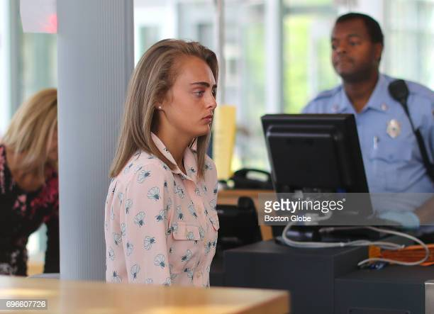 Michelle Carter arrives at Taunton District Court in Taunton MA on Jun 16 2017 to hear the verdict in her trial Carter is charged with involuntary...