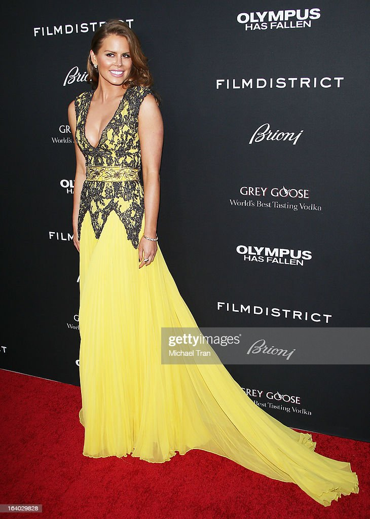 Michelle Celeste arrives at the Los Angeles premiere of 'Olympus Has Fallen' held at ArcLight Cinemas Cinerama Dome on March 18, 2013 in Hollywood, California.